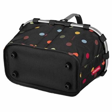 Reisenthel carrybag XS dots Einkaufskorb Picknickkorb Henkelkorb 5 Liter schwarz mit Punkten - Größe beachten ! - 2