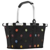 Reisenthel carrybag XS dots Einkaufskorb Picknickkorb Henkelkorb 5 Liter schwarz mit Punkten - Größe beachten ! - 1