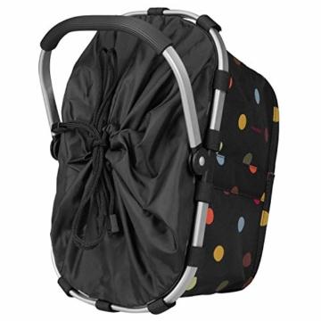 Reisenthel carrybag XS dots Einkaufskorb Picknickkorb Henkelkorb 5 Liter schwarz mit Punkten - Größe beachten ! - 3