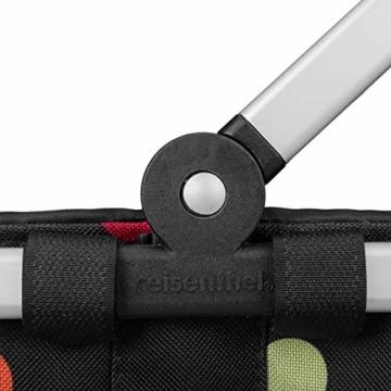 Reisenthel carrybag XS dots Einkaufskorb Picknickkorb Henkelkorb 5 Liter schwarz mit Punkten - Größe beachten ! - 5