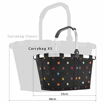 Reisenthel carrybag XS dots Einkaufskorb Picknickkorb Henkelkorb 5 Liter schwarz mit Punkten - Größe beachten ! - 6