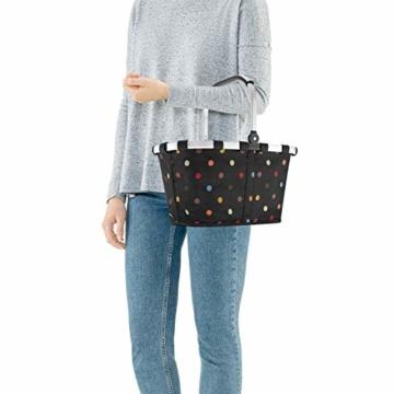 Reisenthel carrybag XS dots Einkaufskorb Picknickkorb Henkelkorb 5 Liter schwarz mit Punkten - Größe beachten ! - 7