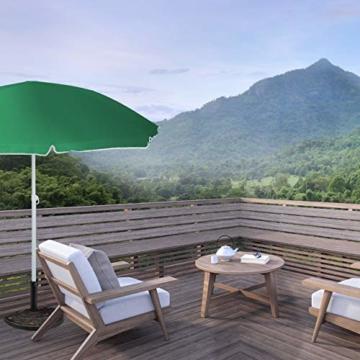 Relaxdays Sonnenschirmständer halbrund, wetterfest, schwer, Garten & Terrasse, Stockgröße 38 mm, BxT: 50 x 32 cm, braun - 3