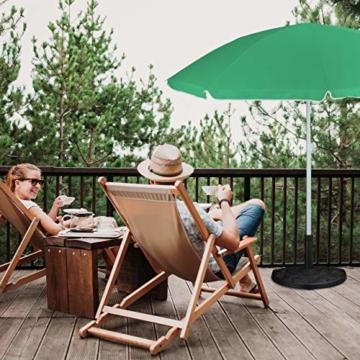 Relaxdays Sonnenschirmständer halbrund, wetterfest, schwer, Garten & Terrasse, Stockgröße 38 mm, BxT: 50 x 32 cm, braun - 4