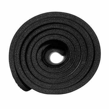 REXOO Pilates Yogamatte Fitnessmatte Gymnastikmatte Sportmatte Matte, Größe: 183cm x 61cm x 1cm, Farbe: Schwarz - 4