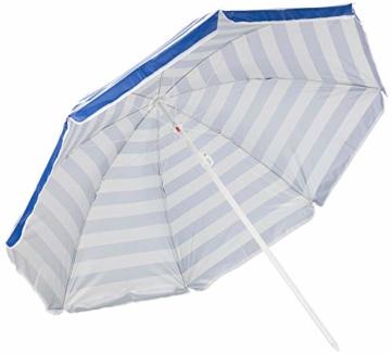 Royal Gardineer Strandschirm: 2-teiliger Sonnenschirm mit Sonnenschutz UV30+ und Tasche, Ø 160 cm (Sonnenschirm Strand) - 2