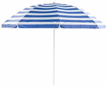 Royal Gardineer Strandschirm: 2-teiliger Sonnenschirm mit Sonnenschutz UV30+ und Tasche, Ø 160 cm (Sonnenschirm Strand) - 3