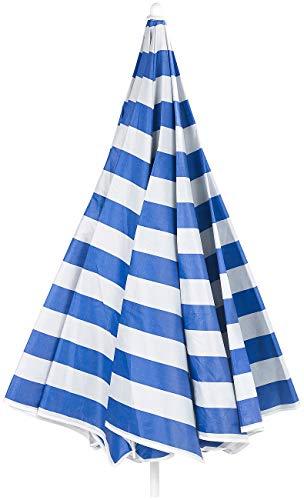 Royal Gardineer Strandschirm: 2-teiliger Sonnenschirm mit Sonnenschutz UV30+ und Tasche, Ø 160 cm (Sonnenschirm Strand) - 4