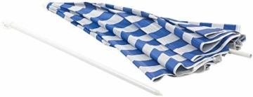 Royal Gardineer Strandschirm: 2-teiliger Sonnenschirm mit Sonnenschutz UV30+ und Tasche, Ø 160 cm (Sonnenschirm Strand) - 5