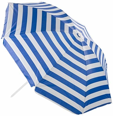 Royal Gardineer Strandschirm: 2-teiliger Sonnenschirm mit Sonnenschutz UV30+ und Tasche, Ø 160 cm (Sonnenschirm Strand) - 7