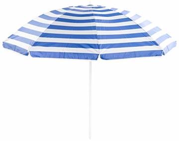 Royal Gardineer Strandschirm: 2-teiliger Sonnenschirm mit Sonnenschutz UV30+ und Tasche, Ø 160 cm (Sonnenschirm Strand) - 9
