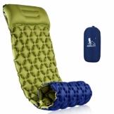 RUNACC Isomatte Camping Selbstaufblasbare, Aufblasbare Ultraleicht Luftmatratze Camping Matratze Outdoor Luftbett für Camping, Reise, Outdoor, Wandern, Strand(Grün&Blau) - 1