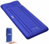 Sable Isomatte Camping Handpresse aufblasbare Luftmatratze Kleines Packmaß und Leichte 14cm Dick Schnell Selbstaufblasend mit Integrierte Luftpumpe und Tragetasche für Outdoor Backpacking Wandern - 1
