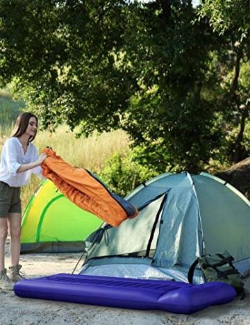 Sable Isomatte Camping Handpresse aufblasbare Luftmatratze Kleines Packmaß und Leichte 14cm Dick Schnell Selbstaufblasend mit Integrierte Luftpumpe und Tragetasche für Outdoor Backpacking Wandern - 8