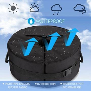 Sammiu Umbrella Base Weight Bag Wetter- und UV-beständige Sandsäcke bis zu 110 Pfund Sand passen auf jeden versetzten Patio-Schirmständer im Freien - 2