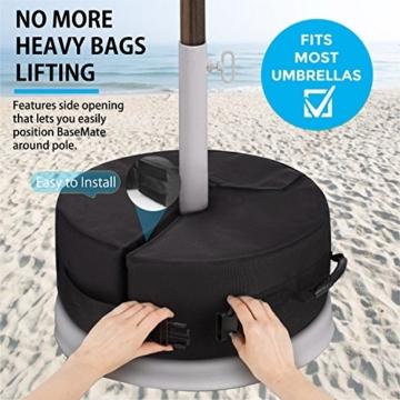 Sammiu Umbrella Base Weight Bag Wetter- und UV-beständige Sandsäcke bis zu 110 Pfund Sand passen auf jeden versetzten Patio-Schirmständer im Freien - 3