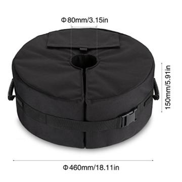 Sammiu Umbrella Base Weight Bag Wetter- und UV-beständige Sandsäcke bis zu 110 Pfund Sand passen auf jeden versetzten Patio-Schirmständer im Freien - 4