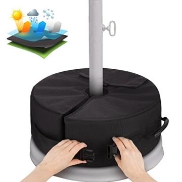 Sammiu Umbrella Base Weight Bag Wetter- und UV-beständige Sandsäcke bis zu 110 Pfund Sand passen auf jeden versetzten Patio-Schirmständer im Freien - 1