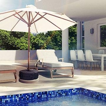 Sammiu Umbrella Base Weight Bag Wetter- und UV-beständige Sandsäcke bis zu 110 Pfund Sand passen auf jeden versetzten Patio-Schirmständer im Freien - 5