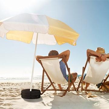 Sammiu Umbrella Base Weight Bag Wetter- und UV-beständige Sandsäcke bis zu 110 Pfund Sand passen auf jeden versetzten Patio-Schirmständer im Freien - 6