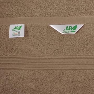 Saunatuch XXL Serie Arizona/Saunalaken/Strandtuch 100x200 cm 100% Baumwolle 500 g/m² in Farbe: Sand - 4
