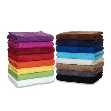 Saunatuch XXL Serie Arizona/Saunalaken/Strandtuch 100x200 cm 100% Baumwolle 500 g/m² in Farbe: Sand - 1