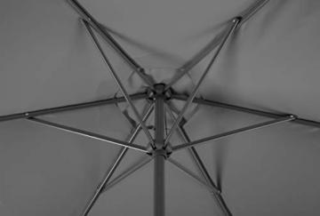 Schneider-Schirme Bergamo Marktschirm Anthrazit ca. 300 cm Ø - 3