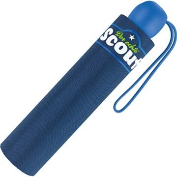 Scout Kinder Regenschirm Taschenschirm Schultaschenschirm mit Reflektorstreifen extra leicht (Blau) - 3