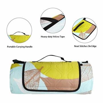 Sekey 200 x 200cm Picknickdecke wasserdicht, Camping Decke Picknickdecke mit tragbarem Griff, Waschbare Picknickdecke für Outdoor - 2