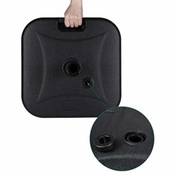 Sekey Marktschirmständer Sonnenschirmständer für Schirmstöcke bis 32-38 mm,schwarz,24kg - 4