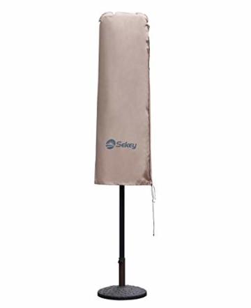 Sekey Schutzhülle für DoppelSonnenschirm, Abdeckhauben für Sonnenschirm,100% Polyester, Taupe - 270 x 460 CM - 1