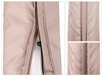 Sekey Schutzhülle für DoppelSonnenschirm, Abdeckhauben für Sonnenschirm,100% Polyester, Taupe - 270 x 460 CM - 6