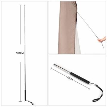 Sekey Schutzhülle für DoppelSonnenschirm, Abdeckhauben für Sonnenschirm,100% Polyester, Taupe - 270 x 460 CM - 8