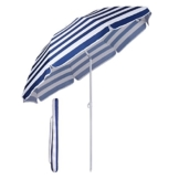 Sekey® Sonnenschirm 160 cm Marktschirm Gartenschirm Terrassenschirm Blaue weiße Streifen Rund Sonnenschutz UV20+ - 1