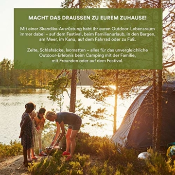 Skandika Kuppelzelt Daytona 6 Personen | Familienzelt mit 3 Schlafkabinen, 3000 mm Wassersäule, 195 cm Stehhöhe, Moskitonetze, Sonnensegel | Campingzelt für Familie und Freunde (beige/braun) - 6