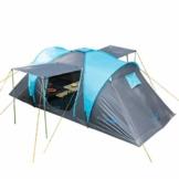 Skandika Kuppelzelt Hammerfest für 4 Personen | Campingzelt mit eingenähtem Zeltboden (Protect), schwarzen Kabinen (Sleeper), 2 Schlafkabinen, Moskitonetze, 2 m Stehhöhe, 2000 mm Wassersäule - 1