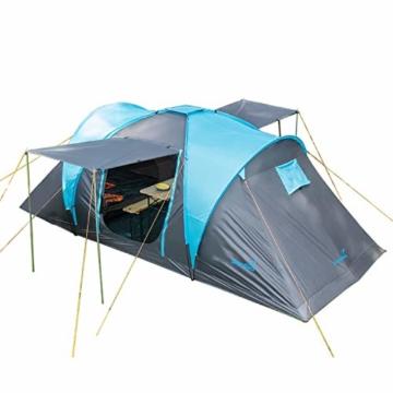 Skandika Kuppelzelt Hammerfest für 4 Personen   Campingzelt mit eingenähtem Zeltboden (Protect), schwarzen Kabinen (Sleeper), 2 Schlafkabinen, Moskitonetze, 2 m Stehhöhe, 2000 mm Wassersäule - 1