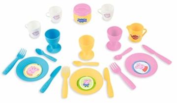 Smoby 310589 – Peppa Wutz Picknick-Korb – Spielset mit Spielzeug-Teeservice (20 Teile), inkl. Teller, Besteck, Becher, für Kinder ab 3 Jahren, rosa - 4