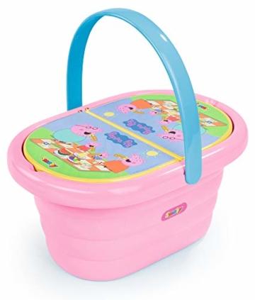 Smoby 310589 – Peppa Wutz Picknick-Korb – Spielset mit Spielzeug-Teeservice (20 Teile), inkl. Teller, Besteck, Becher, für Kinder ab 3 Jahren, rosa - 1