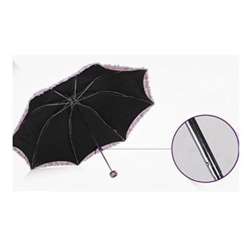 Sonnenschirm Von ZAIYI Vinyl-Sonnenschirme Doppel-Sonnenschirm Regenschirm Sonnencreme 30 Prozent Regenschirm Mit Umhängetasche,B - 2