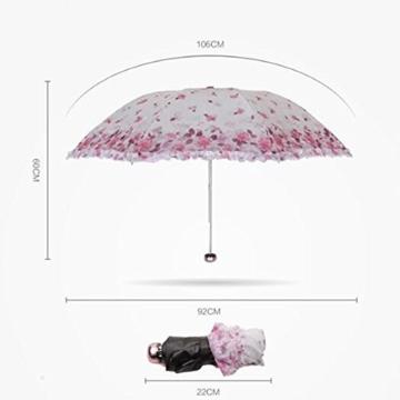 Sonnenschirm Von ZAIYI Vinyl-Sonnenschirme Doppel-Sonnenschirm Regenschirm Sonnencreme 30 Prozent Regenschirm Mit Umhängetasche,B - 4