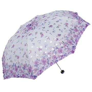 Sonnenschirm Von ZAIYI Vinyl-Sonnenschirme Doppel-Sonnenschirm Regenschirm Sonnencreme 30 Prozent Regenschirm Mit Umhängetasche,B - 1