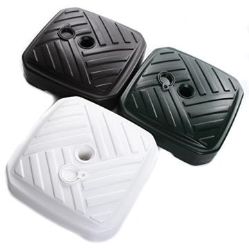 Sonnenschirmständer Schirmständer Ständer Schirmhalter Quadratisch Rattanoptik oder Board Design 12 L 4 Farben wählbar von rg-vertrieb (Board Quadrat Weiss) - 5