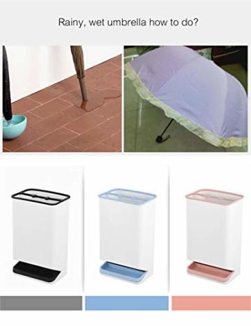 SPDYCESS Schirmständer Regenschirmständer Regenschirm Lagerregal mit Wasserauffangschale Geeignet für Alle Regenschirme, rutschfeste, Höhe: 29.5 cm - 6