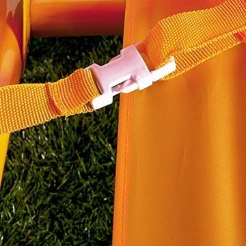 Spielwerk Hollywoodschaukel mit Sonnendach und Sicherheitsgurten 2 Sitzer Gartenschaukel Schaukelbank Doppelschaukel für Kinder - 4