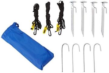 Sport-Brella Umbrella Sonnenschirm für Strand und Garten, Robust, Schutz vor Sonne, Regen und Wind, Mit Tragetasche, Blau, 54'' / 136cm - 7