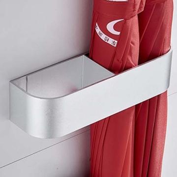 Sport Tent-Schirmständer Wand Regenschirmständer Wasserauffangschale Wandschirmständer für Flur Zuhause und Büro (Matt Silber) - 11