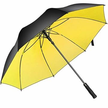 Superbison Dual Layer Golfschirm 62 Zoll Extra Groß Schirme Automatisch Öffnen Stark Winddichte Wasserdichte Regenschirm (Gelb 155cm) - 1