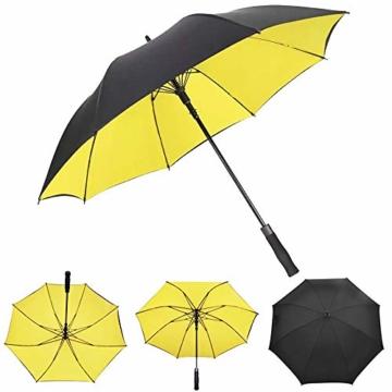 Superbison Dual Layer Golfschirm 62 Zoll Extra Groß Schirme Automatisch Öffnen Stark Winddichte Wasserdichte Regenschirm (Gelb 155cm) - 5
