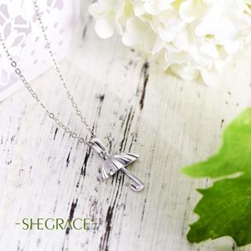 Sweetiee 925 Sterling Silber Regenschirm Anhaenger Halsketten Damenschmuck Mit Geschenkbox Liebe Elegant Schoen - 5